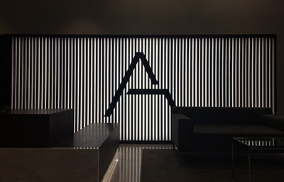 backlit wall in luxury apartments