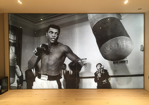 backlit glass Muhammed Ali