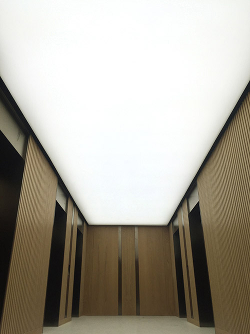 stretch fabric backlit ceiling panel