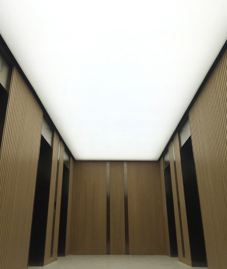 stretch-fabric ceiling lighting